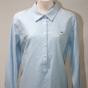 VINEYARD VINES BLUE 3/4 BUTTON DOWN SIZE 10